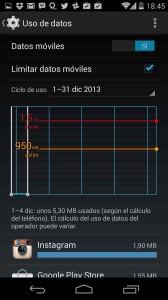 Android: uso de datos móviles