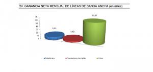 Gráfico del aumento de líneas ADSL en noviembre 2013