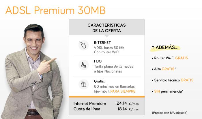 El Internet Premium de Jazztel te ofrece hasta 30 megas de velocidad por VDSL