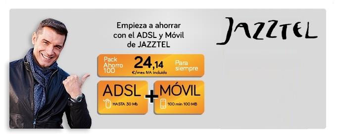 Jazztel añadirá una línea de 100 min y 100 MB gratuita en el Pack Ahorro 100