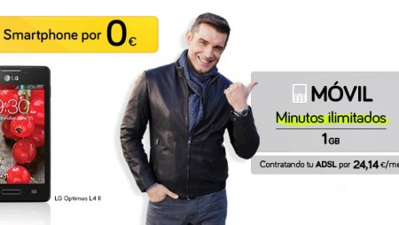 Consigue un móvil LG Optimus L4 II por 0€ con Jazztel