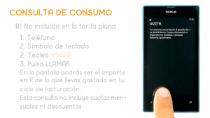 Pantalla del Nokia Lumia