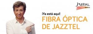 Banner sobre la llegada de la fibra óptica de Jazztel