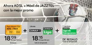 Detalle de Oferta Jazztel para fútbol