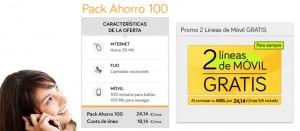 Promoción de Jazztel: 2 líneas móvil gratis al contratar el Pack Ahorro 100
