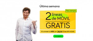 Oferta 2 líneas de móvil con Jazztel