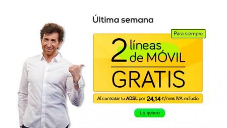 Última semana para conseguir 2 líneas de móvil gratis con el ADSL de Jazztel