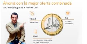 El Pack Ahorro 100 de Jazztel ofrece ADSL de 30MB, llamadas de fijo a fijo ilimitadas y para el móvil 100 minutos gratis y 100MB para navegar.