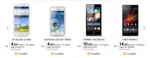 Ejemplo de precios de Jazztel con IVA