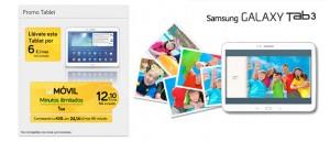 Tablet Samsung Galaxy Tab 3 por 6€/mes con Jazztel