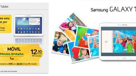 Consigue una tablet Samsung por 6€/mes con Jazztel