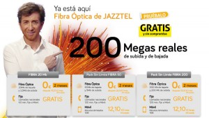 Condiciones de cada una de las ofertas de fibra óptica que ofrece Jazztel combinadas con las tarifas de móvil