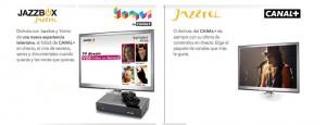 Detalle de las tarifas de televisión de Jazztel: Jazzbox y Jazzztel TV con Canal+