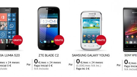 Jazztel ofrece cuatro modelos de móvil a 0 euros hasta fin de mes