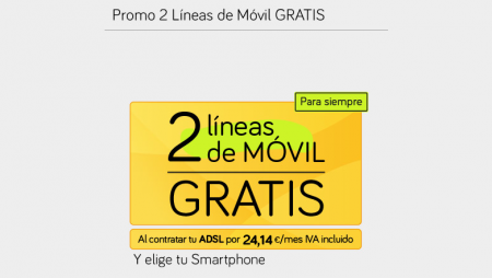 Jazztel amplía este mes la oferta de 2 líneas de móvil gratis con el Pack Ahorro 100