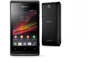 Smartphone Sony Xperia E negro con Android