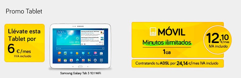 Ahorra 200 euros en la Samsung Galaxy TAB 3 contratando Jazztel