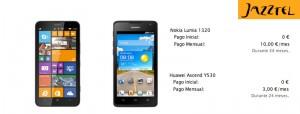 Nuevos móviles de Jazztel