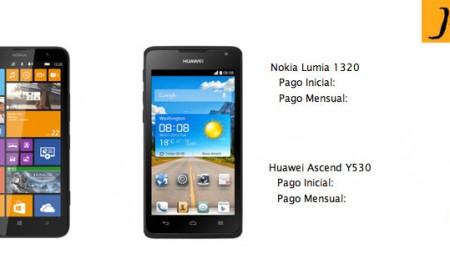 Jazztel incorpora el Nokia Lumia 1320 y el Huawei Ascend Y530 a sus Packs Ahorro