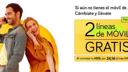 Ahorra 200 euros al año con las dos líneas de móvil gratis del Pack Ahorro 100