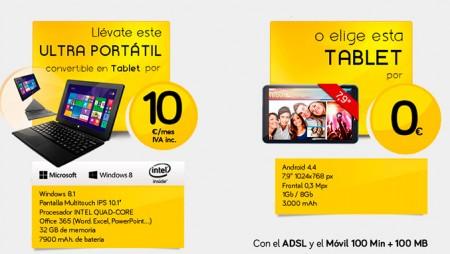Tecnologízate con Jazztel: llévate un ultra portátil por 10 euros al mes