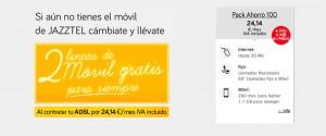 Promoción 2 líneas gratis Jazztel