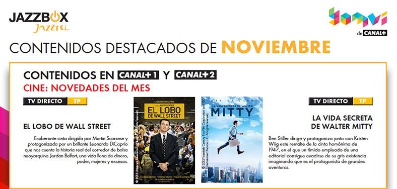 Un noviembre de cine con Jazzbox de Jazztel