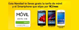 Promoción de móviles Jazztel para Navidad