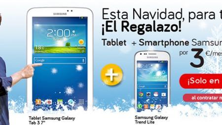 El Pack Sin Límite de Jazztel viene con regalo en Navidad: Galaxy Trend + tablet por 3 euros más