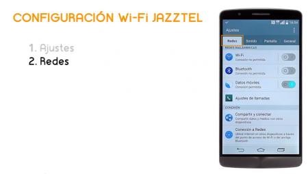 Cómo conectar un LG G3 a la Wi-Fi de Jazztel