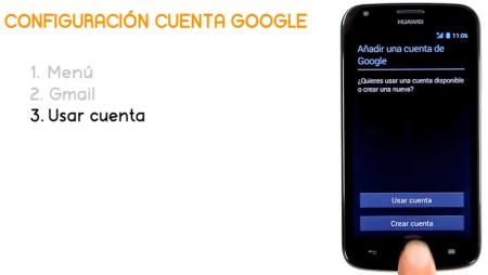 ¿Cómo configurar una cuenta de Google en el Huawei Ascend Y600?