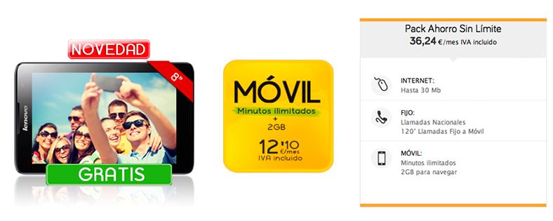 Jazztel amplía su oferta de tablets a 0 euros con la Lenovo TAB 2