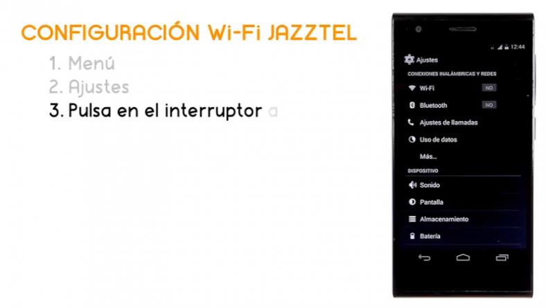 Cómo conectar un ZTE Blade Vec 4G a la Wi-Fi de Jazztel