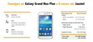 Oferta Galaxy Grand Neo con Jazztel