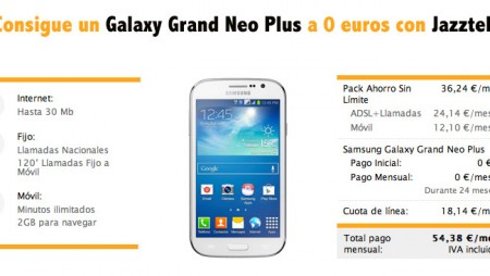 Consigue un Galaxy Grand Neo Plus a 0 euros con Jazztel