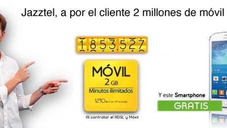 Jazztel, a por los 2 millones de clientes de móvil
