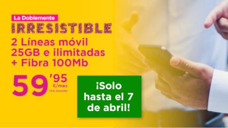Jazztel amplía La Doblemente Irresistible hasta el 7 de abril