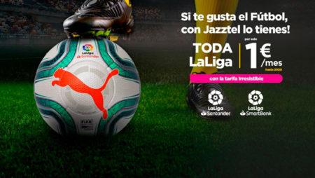 Jazztel Fútbol – ¡Toda LaLiga por 1 euro al mes!
