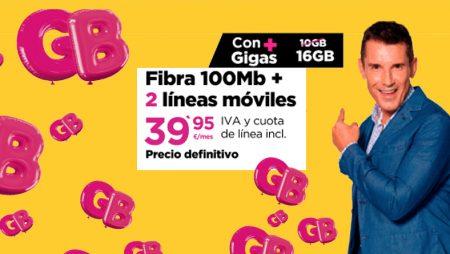 Packs Fibra + Móvil ¡Más Gigas al mismo precio!